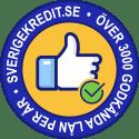 Sverigekredit godkända lån