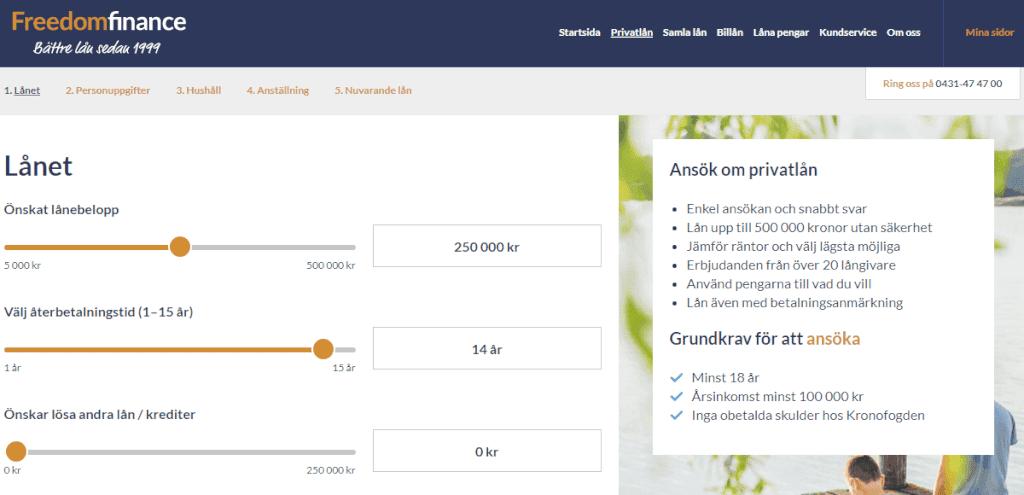 Freedom Finance skärmdump