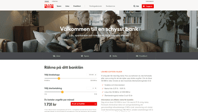 Ikano Bank skärmdump