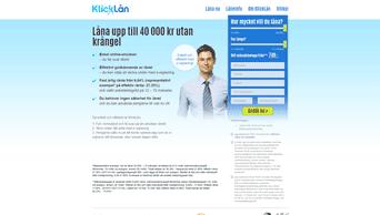 KlickLån skärmdump