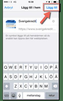 Sverigekredit hemskärm bild