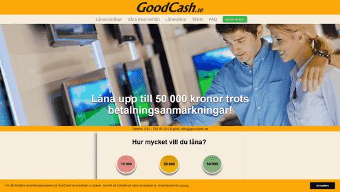 Goodcash skärmdump