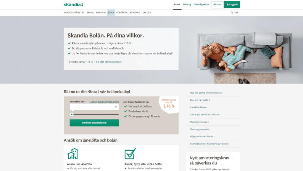 Skandiabanken skärmdump