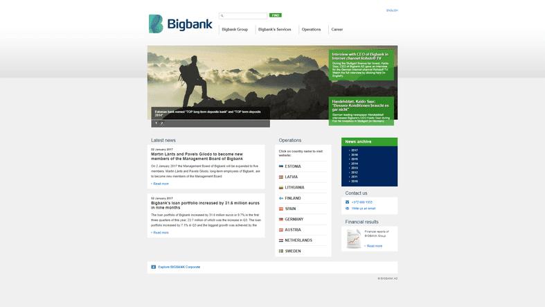 BigBank skärmdump