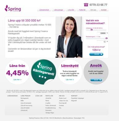 Spring Finance skärmdump