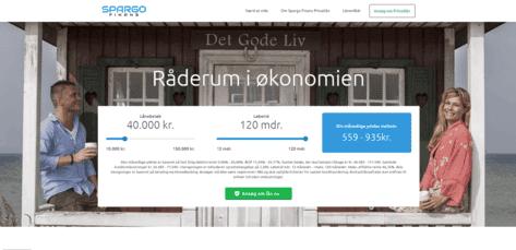 Spargo Finans skärmdump