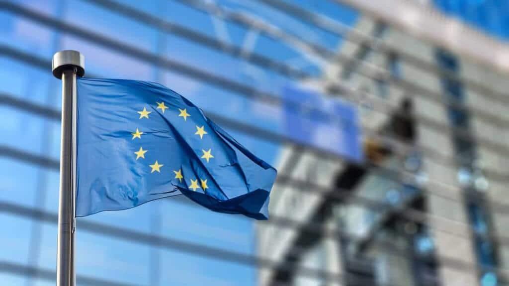 Flagga med Eumotiv
