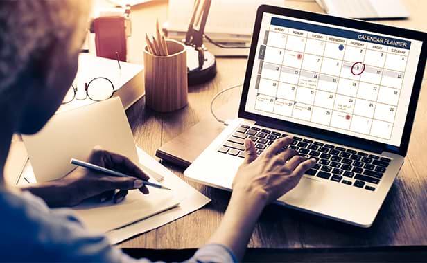 Dator med kalender