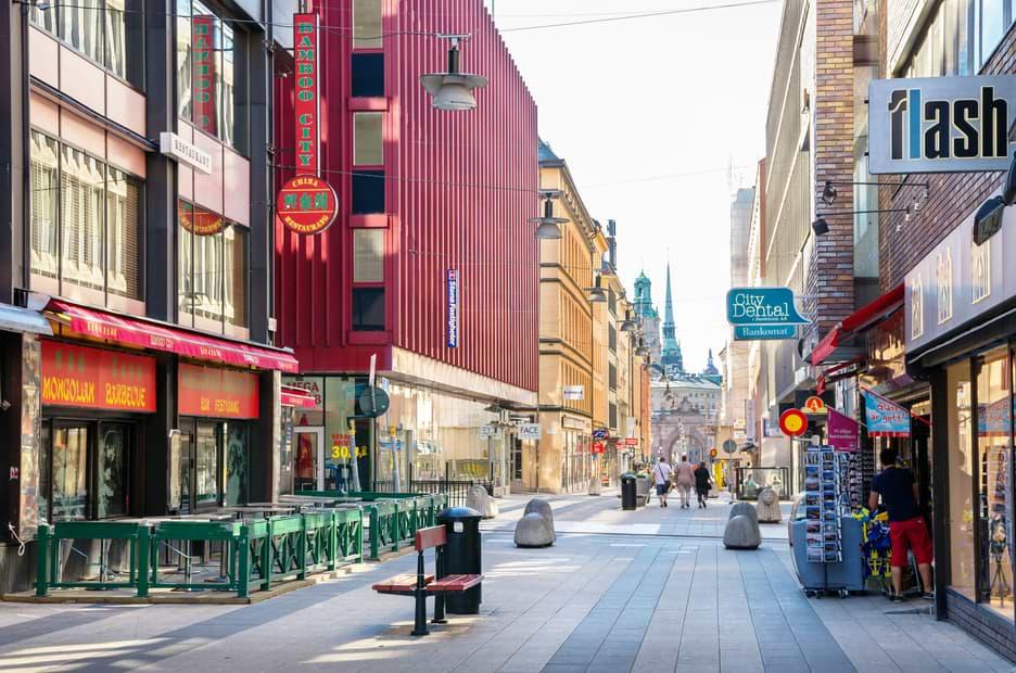 Tom gata i Stockholm