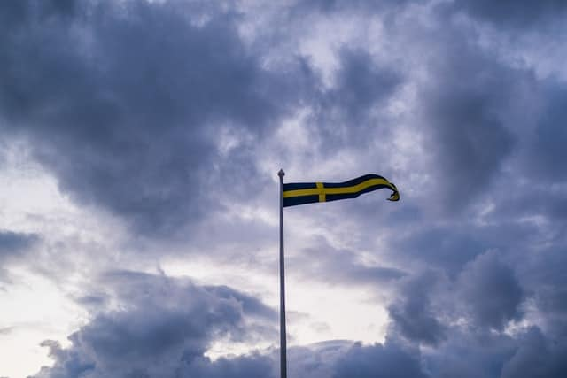 En svensk flagga.